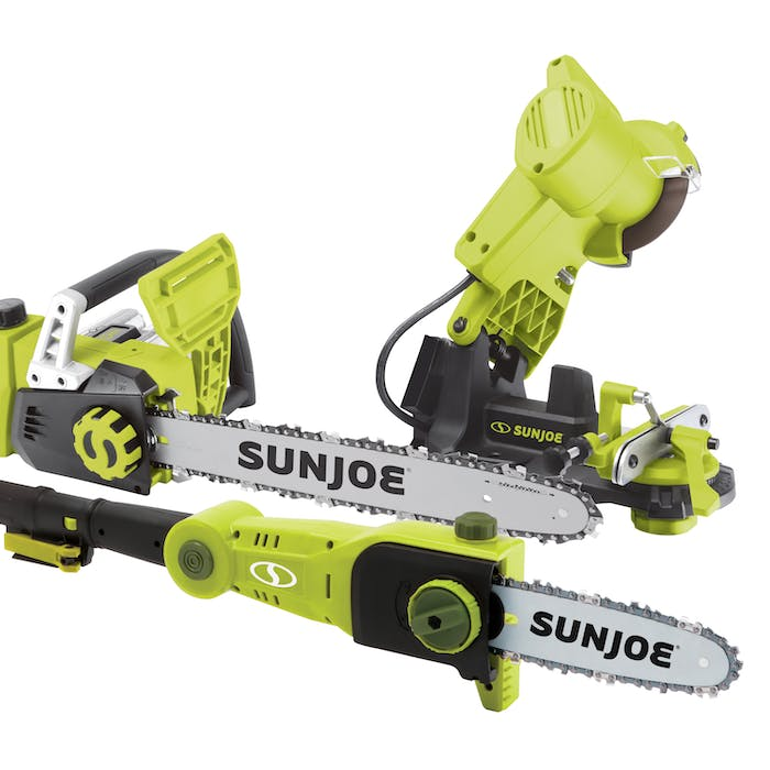 Sun Joe 24V-SAW-BDL 24-Volt iON+ Chainsaw Bundle